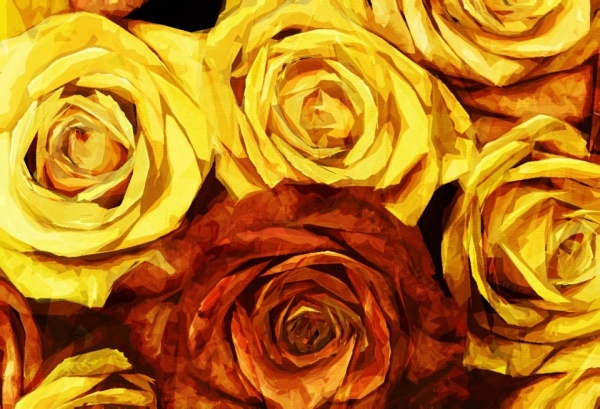 Yellow Painted Rose Texture