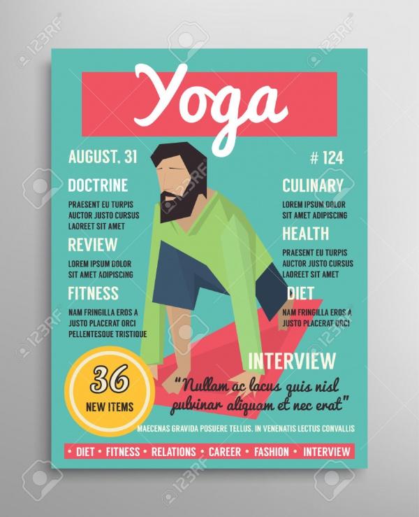Yoga Health Magazine Cover Template
