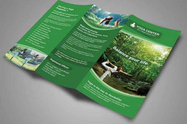 Yoga Summer Camp Brochure Design