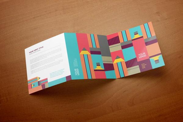 Bi Fold Daycare Brochure Template