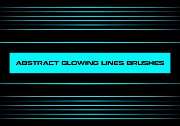 Abstract Glowing Lines Brushes