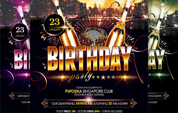 24 birthday flyers psd vector eps jpg download free creatives