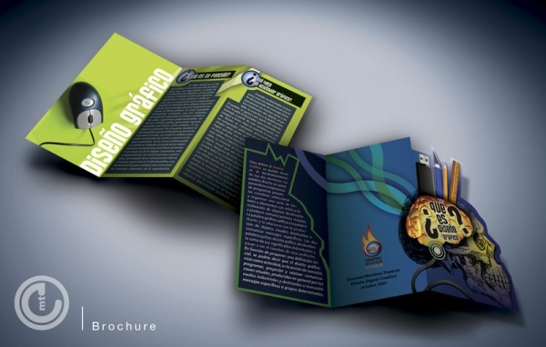 Die Cut Brochure For Desktop