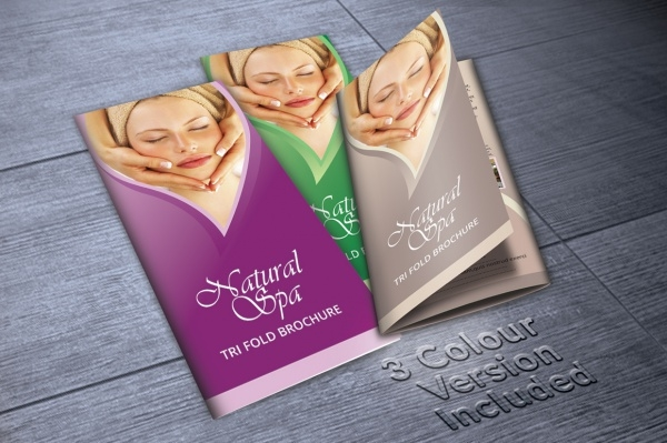 Natural Cosmetic Brochure Design
