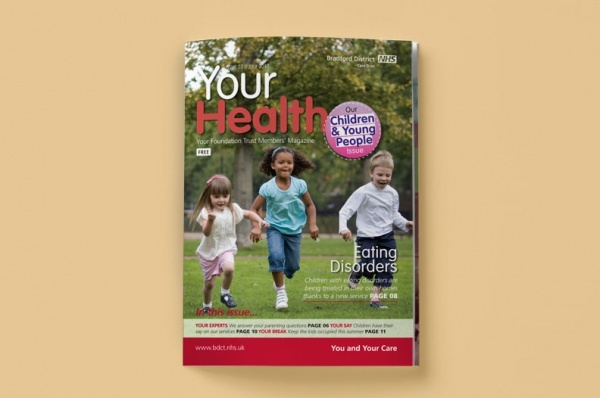 NHS Health Magazine Design Template