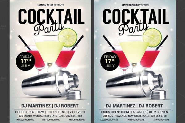 Editable Flyer for Cocktail