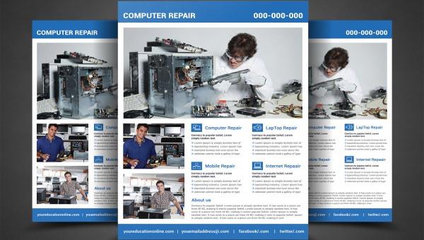 24  computer flyer templates