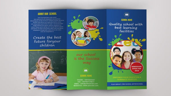 Daycare Brochure Templates PSD Vector EPS JPG Download - Daycare brochure template