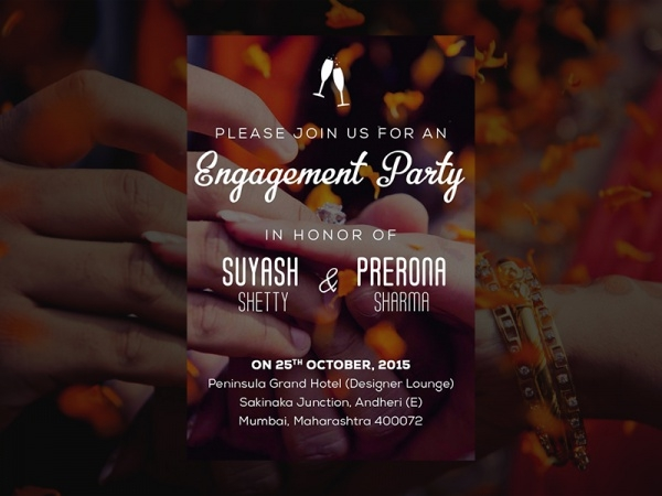 Indian Engagement Party Invite