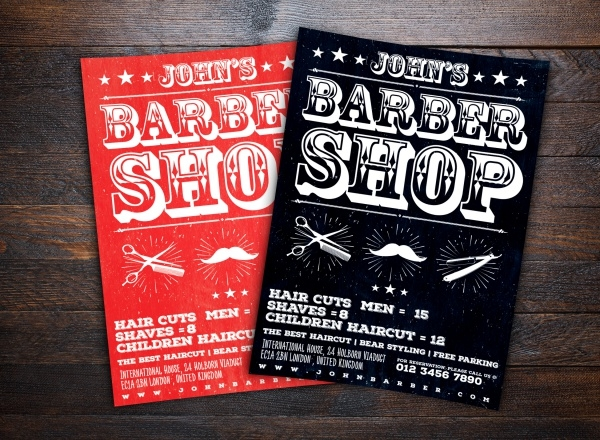 Simple Cool Barbershop Flyer