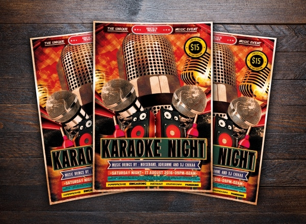 Music Karaoke Stage Flyer