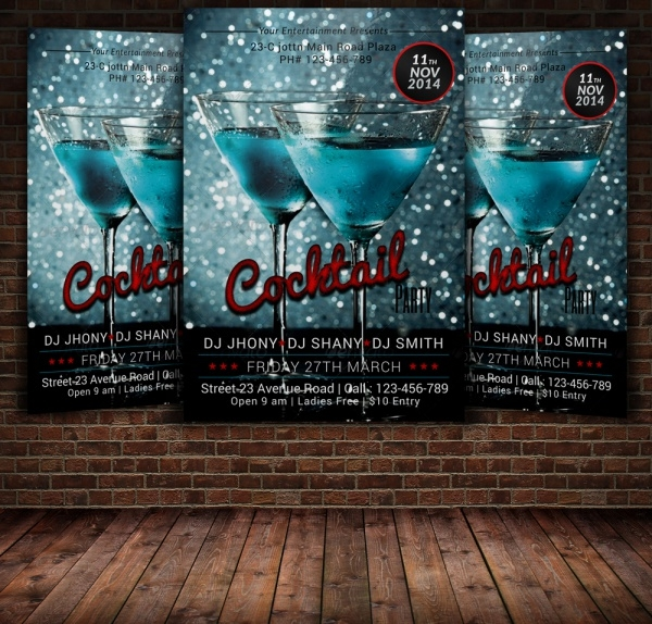 Cocktail Advertising Flyer Design