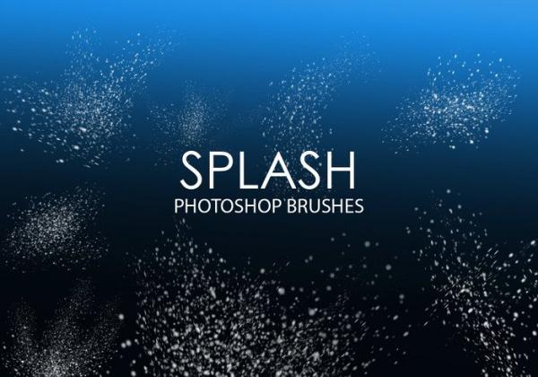 Free Splash Photoshop Brushes