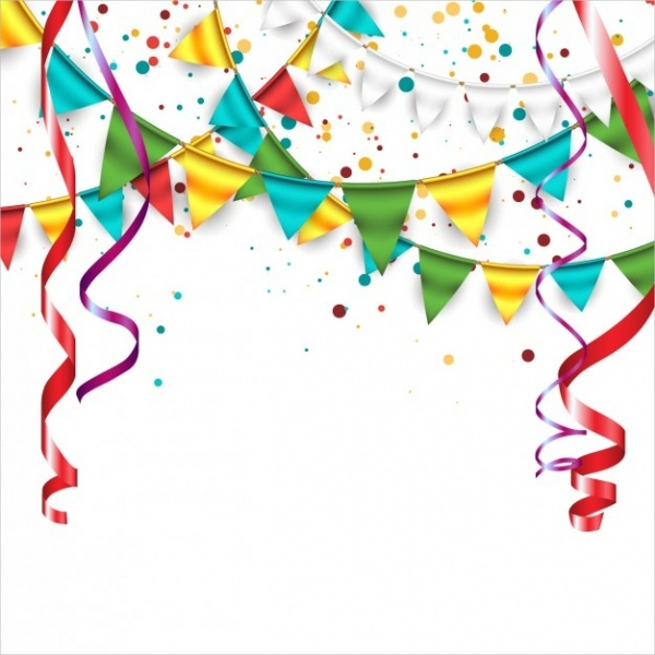 garlands and bunting Celebration Vector