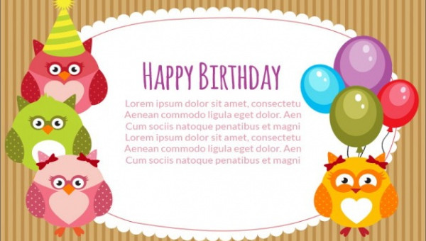 Free 21 Birthday Card Templates In Psd Vector Eps
