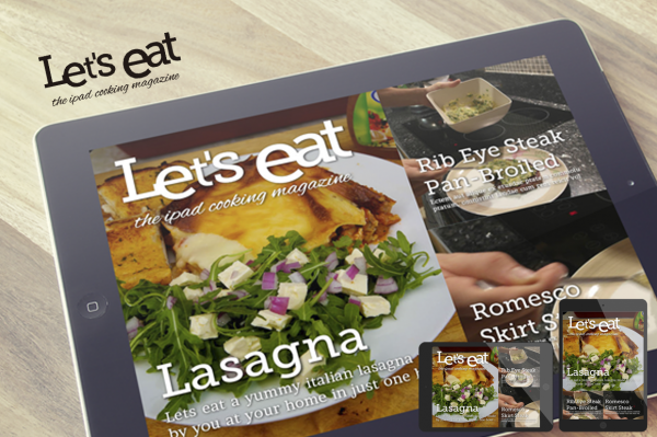 iPad Food Magazine Template