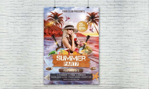Beach PSD Flyer Template