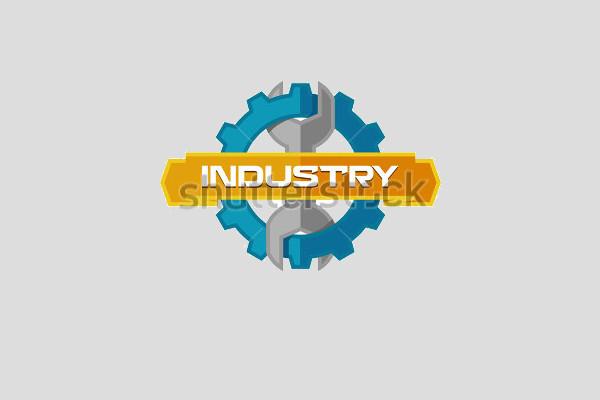 ndustrial Service Logo Design