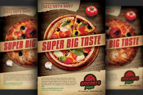 Pizza Restaurant Advertising Flyer