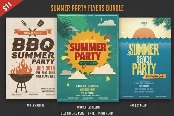 Summer Flyer PSD Flyer