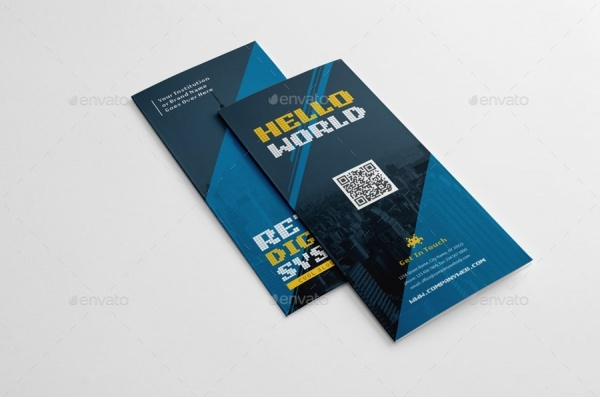Tri-Fold Digital Business Brochure Design