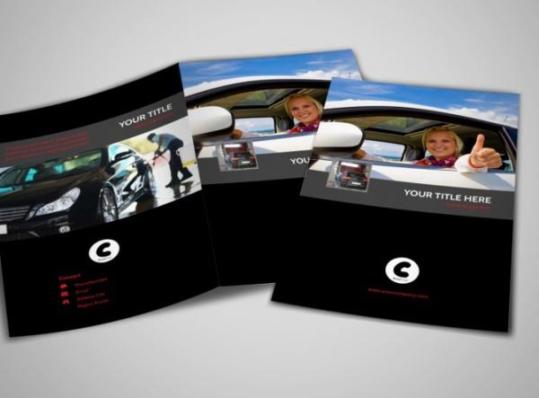 Professional Car Washing Bi-Fold Brochure