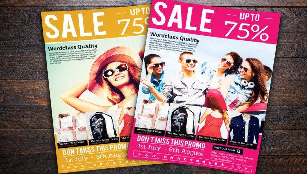 Promotional Flyer Templates  Psd Vector Eps Jpg Download