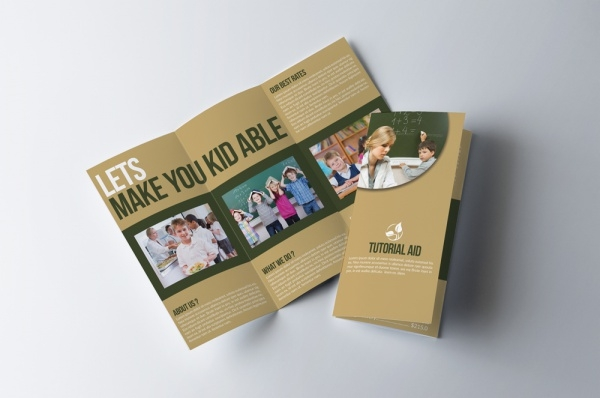 Tri Fold Training Education Brochure Designs