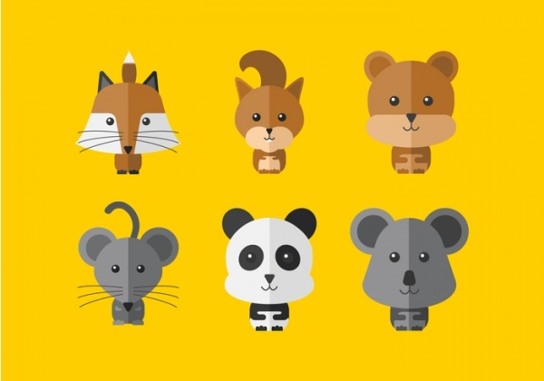 Cartoon Cute Animal Vector