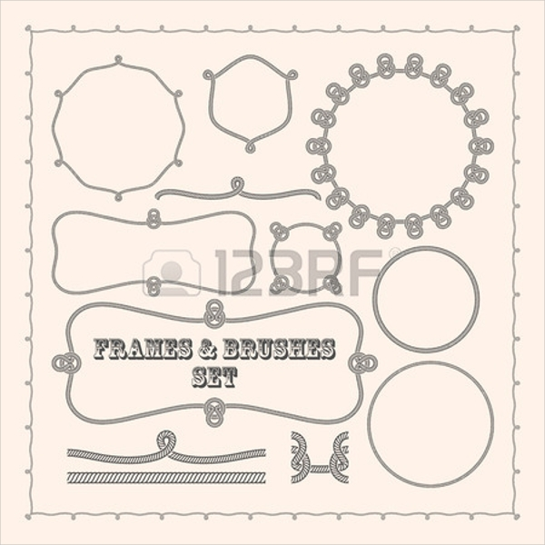 vector frame rope brushes