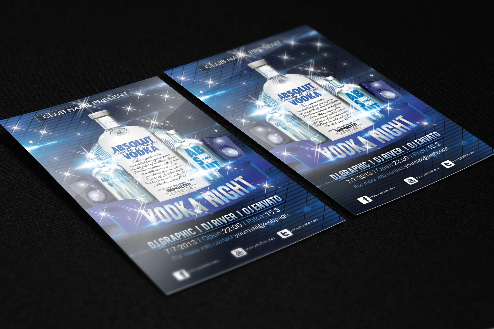 Amazing Vodka Night Flyer