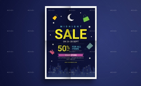 Midnight Sale Flyer Template