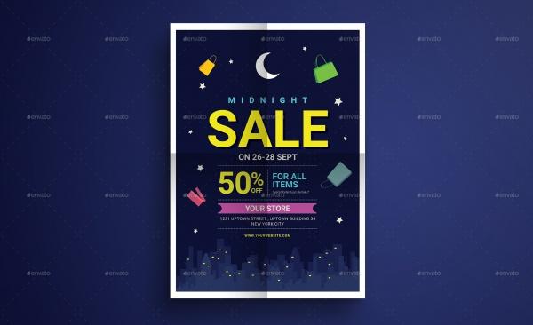 Midnight Sale Flyer Template