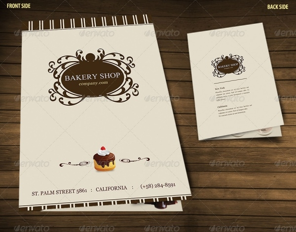 Bakery Menu Brochure Design