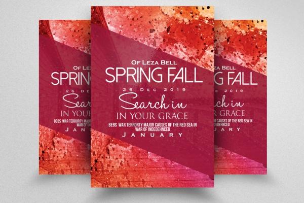 Night Spring Revival Flyer