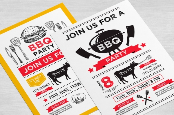 Barbecue Anniversary Invitation
