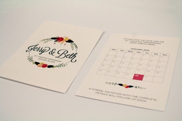 25th Wedding Anniversary Acrylic Paint Invitation