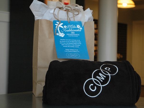 Screen Printed Gift Bag Tag