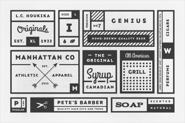 34 Vintage Product Labels