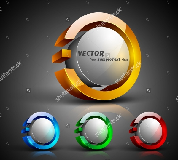 3D Glossy Button Designs