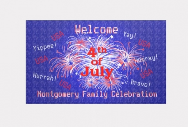 4th of July Fireworks Welcome Banner
