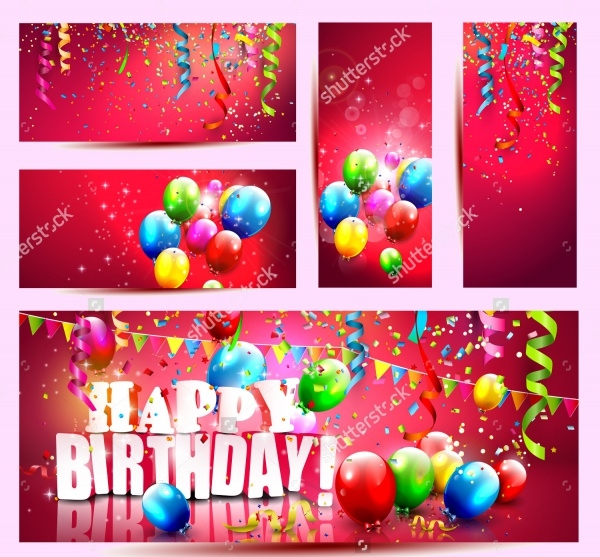 5 Colorful Birthday Confetti Banner