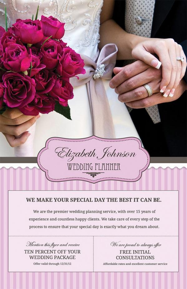 Wedding Flyer Templates PSD Vector EPS JPG Download - Wedding brochure templates free