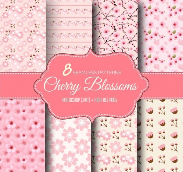 8 Cherry Blossoms Patterns For Desktop