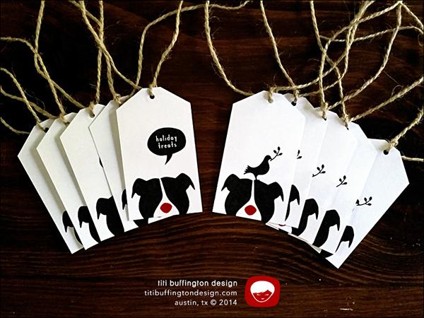 Minimalistic Black & White Gift Tag