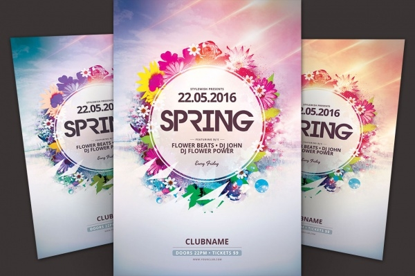 a4 spring flyer template