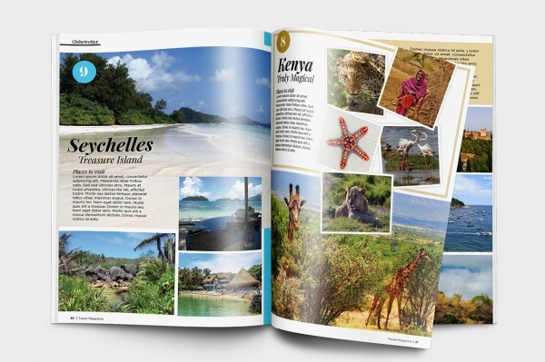 A4 Travel Tourism Magazine Template