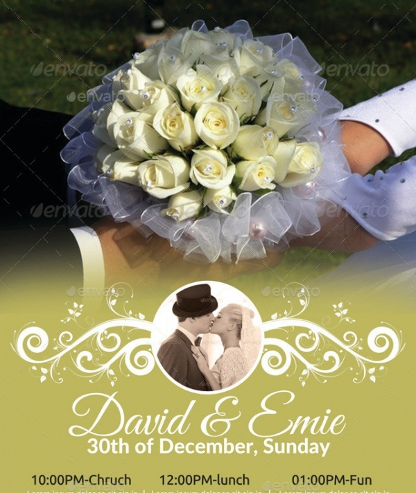 A4 Wedding Flyer Bundle