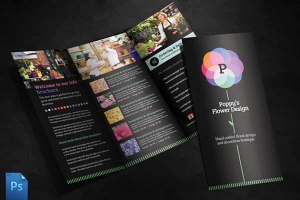 A5 Florist Brochure Design