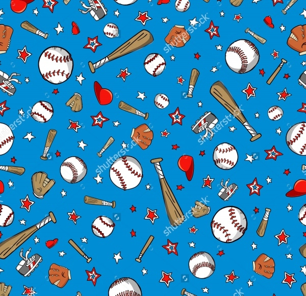 Abstract Baseball Sports Pattern
